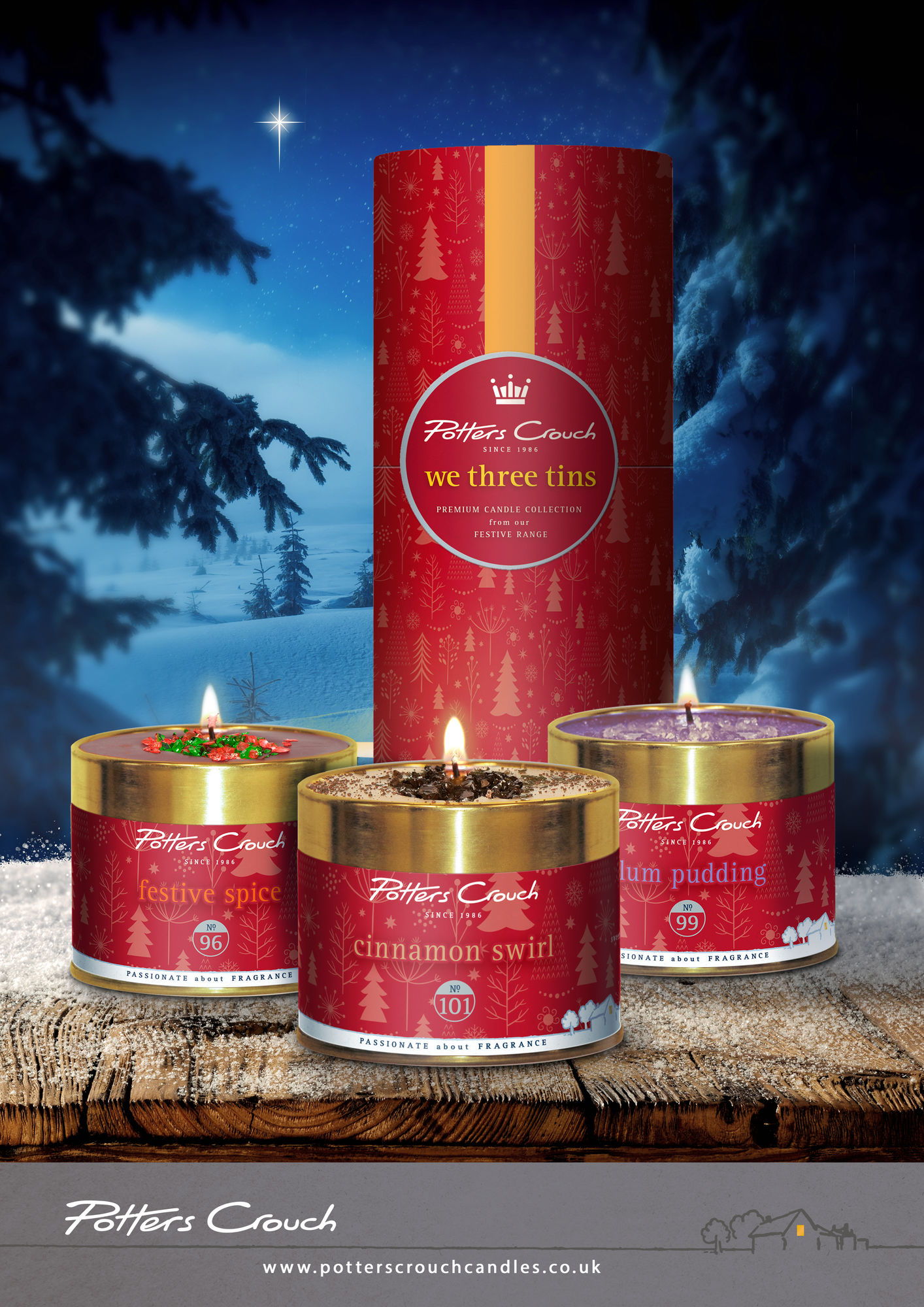 Candle Tin Plum Pudding Potters Crouch